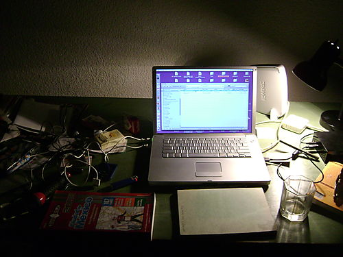 Dark desk