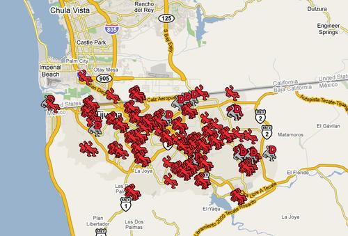 Tijuana blood map