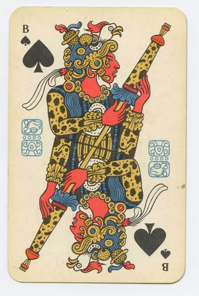 Prehispanic playing card