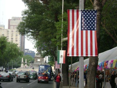 Flags paseo de la reforma