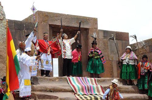 Evo morales ceremony
