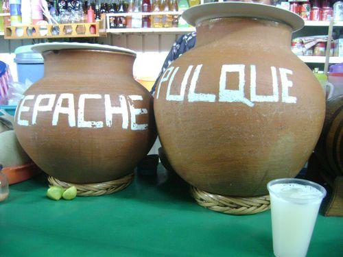 Tepache pulque