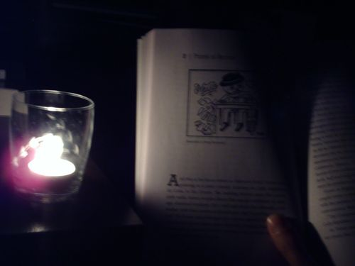 Down delirious by candlelight