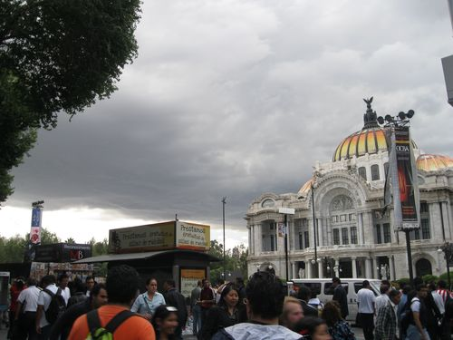 Rain clouds downtown mexico city daniel hernandez
