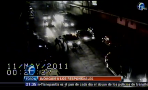 Isaac chinedu screengrab police mexico city
