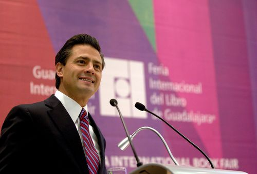 Pena nieto at fil courtesy