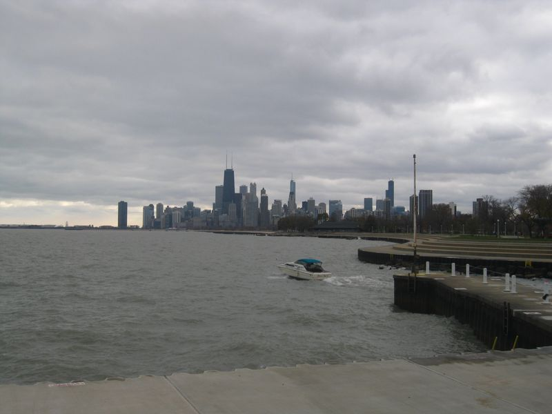 Lake michigan view skyline