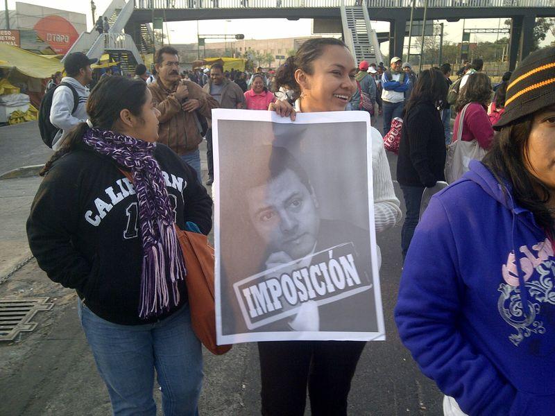 Protester toma de protesta san lazaro mexico