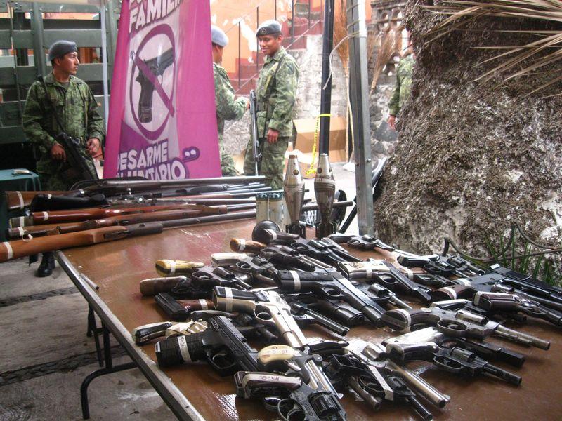 Iztapalapa crime guns exchange