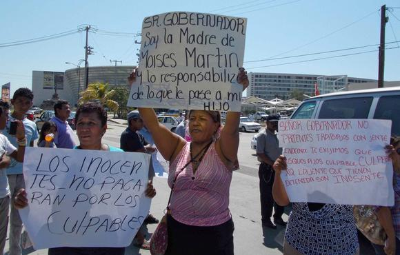 Rape suspects protest acapulco